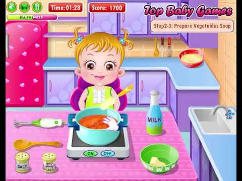 Cooking Games For Girls | Baby Hazel In Kitchen