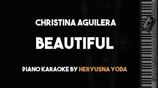 Video Beautiful - Christina Aguilera (Piano Karaoke Backing Track With Lyrics) MP3, 3GP, MP4, WEBM, AVI, FLV Januari 2018