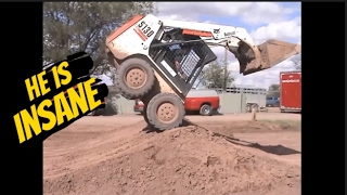 Video He is the most Insane, Skilled, Skid steer Operator in the World MP3, 3GP, MP4, WEBM, AVI, FLV Agustus 2018