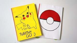 Great homemade notebook cover PokemonGo collection!