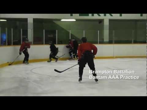 Bronko Hockey: AAA Bantam Practice with Brampton Battalion.wmv