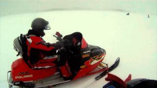 7. 2003 Polaris XC 800 Vs 2012 Polaris Pro R 800 VS Yamaha SRX 700! Open water!