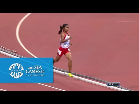Athletics Womens 10000m Final (Day 6) | 28th SEA Games Singapore 2015