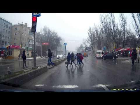 Авария с пешеходом в Запорожье