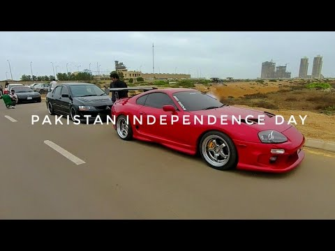 Pakistan Independence Day 2018   14th August Karachi Street View - Expedition Pakistan 🇵🇰