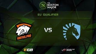 VP vs Liquid, Game 1, Boston Major EU Qualifiers