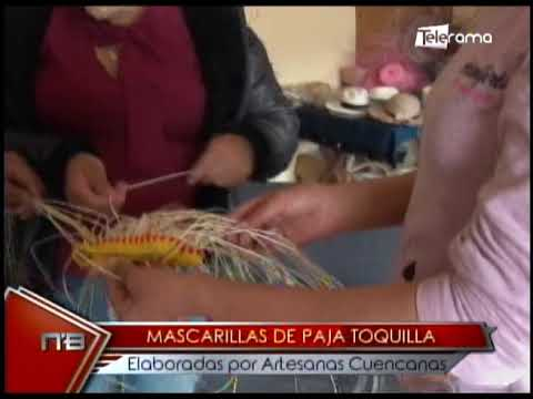 Mascarillas de paja toquilla elaboradas por artesanas cuencanas