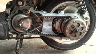 7. Yamaha Vino 49cc Speed Limiting Variator Spacer Removal