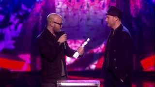 Coldplay Win British Live Act Award | BRITs 2013