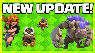 Video UPDATE! Clash of Clans HOME Village - NEW Valkyrie, Golem, Bomb Tower, Air Sweeper Levels! MP3, 3GP, MP4, WEBM, AVI, FLV Oktober 2017
