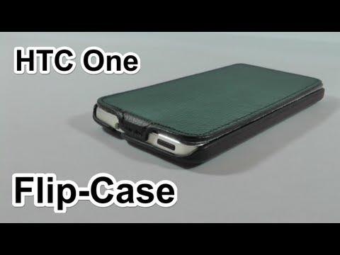 HTC One (M7) Schutzhülle - Saxonia Flip-Tasche/Case Test