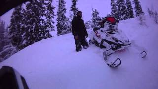 10. 2007 & 2008 Polaris RMK 600 HO 144 in Swedish powder. Contour HD helmet cam. vol 4