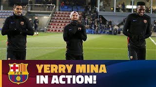 Download Video Yerry Mina's first training session with FC Barcelona MP3 3GP MP4