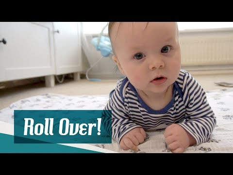 Teaching The Baby To Roll Over // The Oxleys Daily