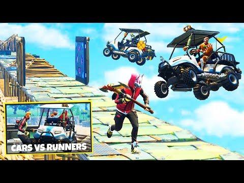 CARTS vs RUNNERS Custom Gamemode in Fortnite Battle Royale