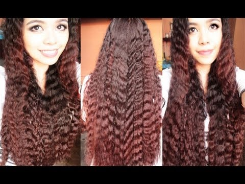 No Heat Summer Crimped Waves 2 quick and Easy Spring And Summer Hairstyles