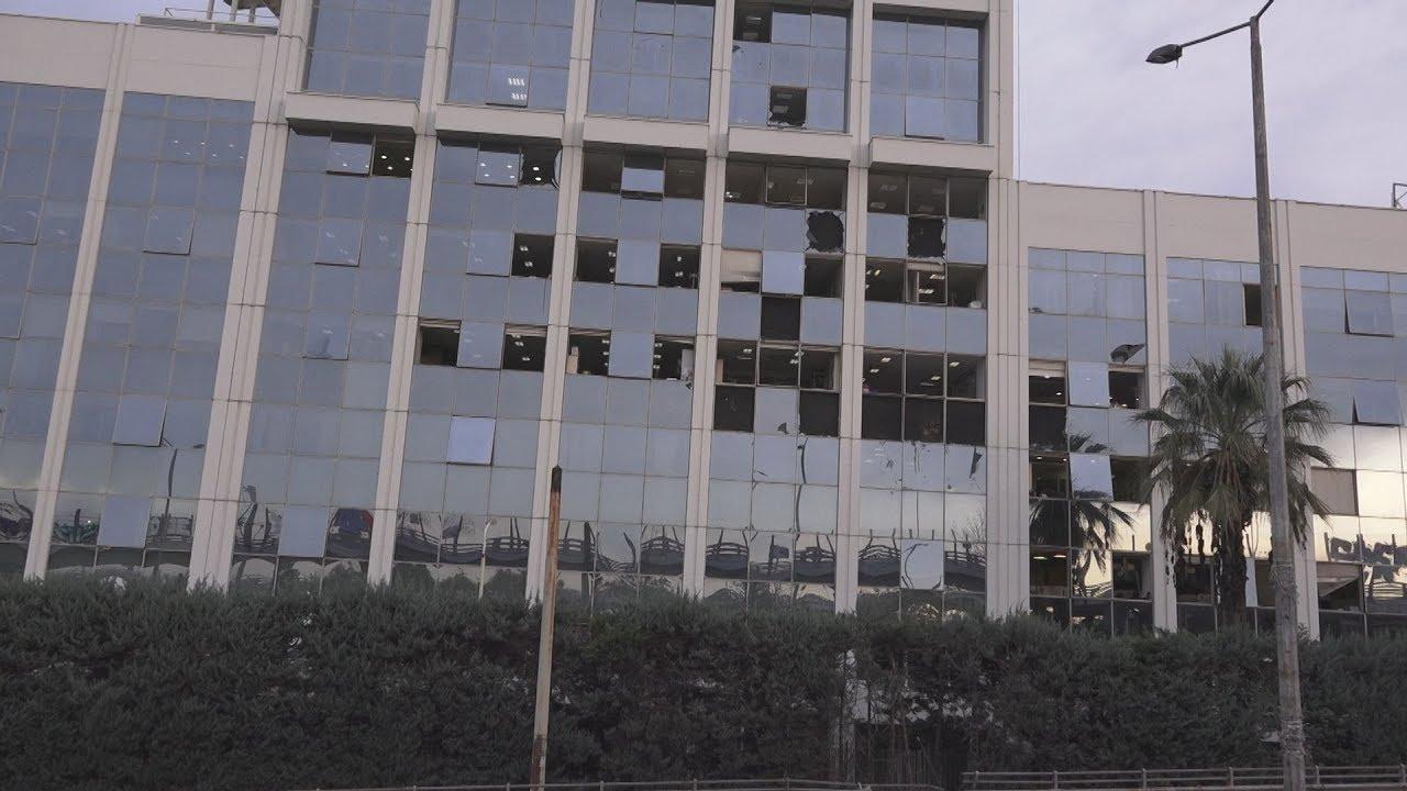 Ζημιές σε όλο το κτίριο από την έκρηξη στον ΣΚΑΪ