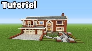 Minecraft Tutorial: How To Make A Huge Suburban Mansion