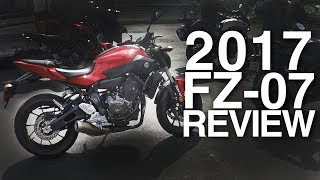 2. 2017 FZ-07 First Ride and Impressions