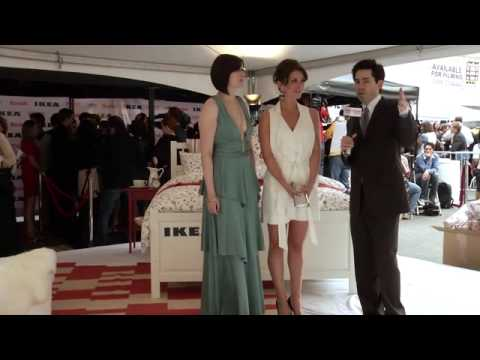 Taryn O'Neill - Mark Malkoff interviews Taryn O'Neill and Stephanie Thorpe from the Ikea Stage on the 2010 Streamy Awards Red Carpet at the Orpheum Theatre on April 11, 2010...