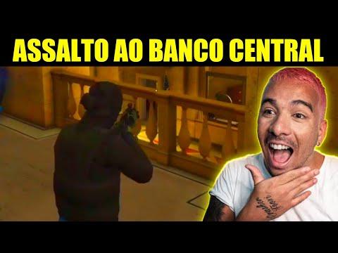 PIUZINHO ROUBANDO O BANCO CENTRAL NO GTA 5, DEU MERDA?!