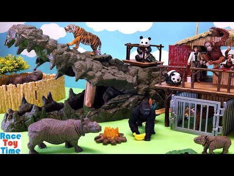 Schleich Jungle Animals Playsets - Fun Zoo Animals Toys For Kids