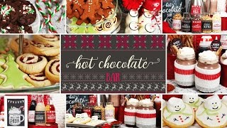 Hot Chocolate Bar | Holiday Party Ideas by The Domestic Geek