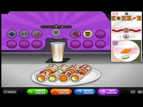 I Am Now A Sushi Chef!/Papas Sushiria/Cool Math Games