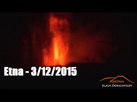 spettacolo monte etna: parossismo dicembre 2015
