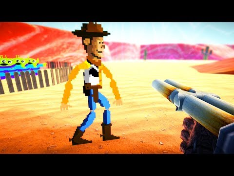 LittleBigPlanet 3 - Toy Story 3D Shooter - Woody Ram Ranch - PS4 Gameplay