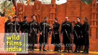 Tura India  city photos gallery : The Rustavi Ensemble from Georgia sings 'Chiche Tura' in India