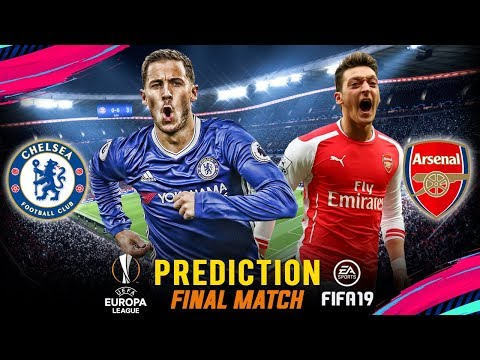 CHELSEA vs ARSENAL | FIFA 19 Predict ● UEFA Europa League Final | Broadcast Camera - 1080HD