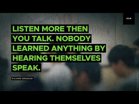 Sales Motivation Quote: Listen More Then You Talk. Nobody Learned Anything By...