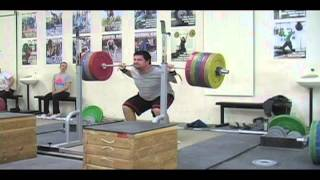 Daily Training 2-7-13 - Weightlifting training footage of Catalyst weightlifters. Brian clean and jerk, Jessica jerk, Patrick back squat, Tamara snatch, Audra back squat, Brian clean pull, Blake back squat, Alyssa clean pull. - Catalyst Athletics Olympic Weightlifting Videos
