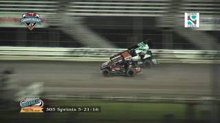 Knoxville Raceway 305 Highlights May 21, 2016