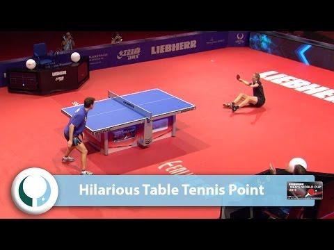 Bardzo luzacka partia w tenisie stołowym