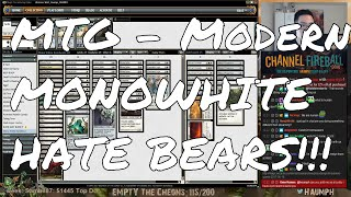 """It's really awesome to see a deck that isn't considered to be Tier 1 have some success at the most competitive levels. Monowhite Hate Bears successfully put up a top 8 finish at one of the largest Modern GPs ever and we decided to channel our inner Craig Wescoe and give it a whirl. WARNING: Loose plays ahead!- Go to https://www.ChannelFireball.com for all your MTG needs! Put in Coupon Code: HAUMPH to get 5% off your current purchase!Empty the Cheons tokens are also available and simply put in: HAUMPH under the comments sections to get some Empty the Cheons tokens!- Customize your very own playmat at Inkedgaming.com! Your game, your style, use coupon code """"Haumph"""" to receive 12% off your purchase! - https://www.inkedgaming.com/- Buy, sell, and even rent cards on MTGO through Manatraders! Rent all the cards you want for one low monthly price and use COUPON CODE: HaumpHTwitch to get 20% off your first monthly subscription! - https://www.manatraders.com/?medium=H...Don't forget to hit that Like button and Subscribe!Stream: https://www.twitch.tv/haumphTwitter: https://twitter.com/haumphEmail: magichaumph@gmail.comFacebook: https://www.facebook.com/paul.cheon.7"""