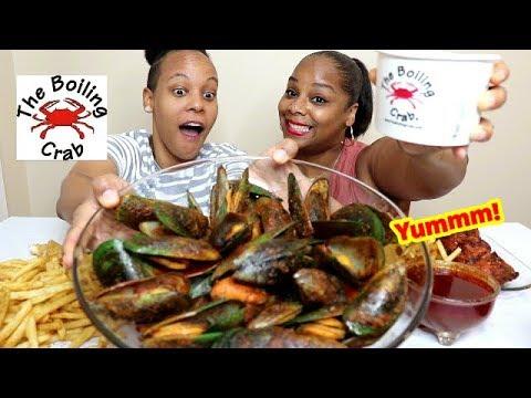 Boiling Crab Mukbang, Green Lips Mussels, Fried Fish, Gumbo - Thời lượng: 30 phút.