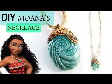 DIY Moana Heart of Te Fiti Necklace    Polymer Clay Tutorial    Maive Ferrando