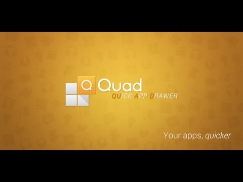 Video of Quad Drawer, quick app drawer