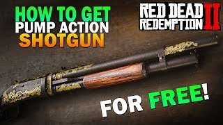 How To Get The Pump Action Shotgun & Easy Money Early Game! Red Dead Redemption 2 Gameplay [RDR2]