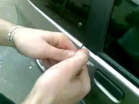 how to open a locked car -