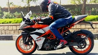 8. 2017 KTM RC 390 First Ride Review, Quick Comparo with R3 and Ninja 300