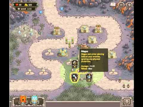 Kingdom Rush Walkthrough - Levels 9 and 10 - 3 Stars