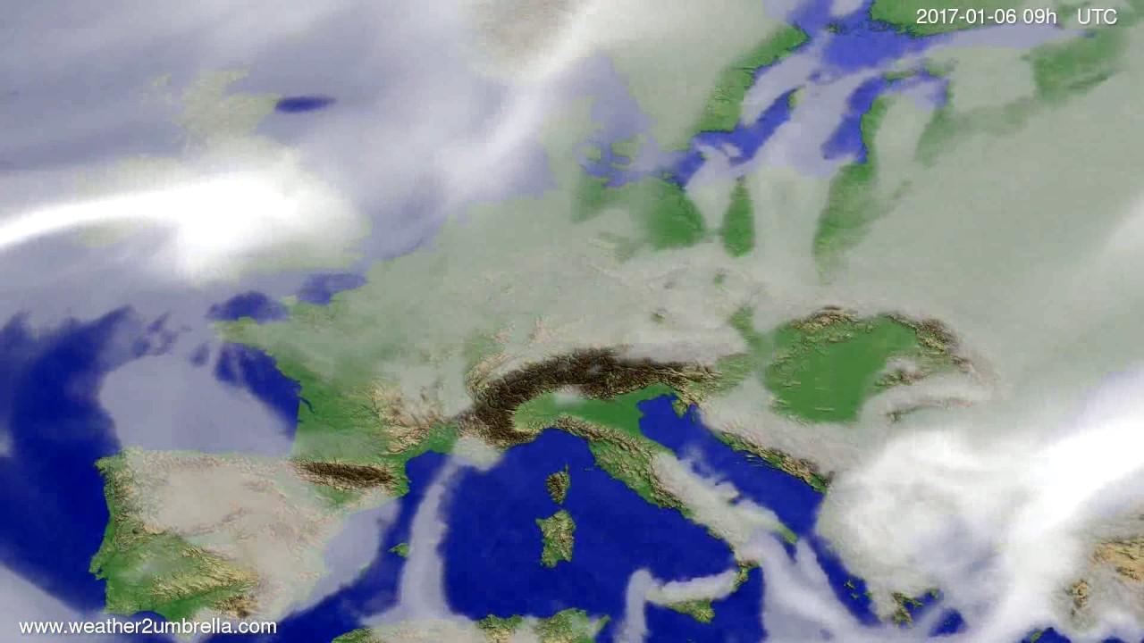 Cloud forecast Europe 2017-01-02
