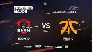 Fnatic vs BOOM ID, EPICENTER Major 2019 SA Closed Quals , bo3, game2 [JAM]