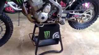 9. 2013 Kawasaki KLX 140- four stroke: pro circuit, monster graphic kit, review, start up, and setup!