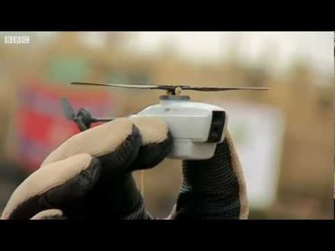 UAV - The Black Hornet Nano military unmanned aerial vehicle (UAV) measures around 10 cm x 2.5 cm and provides troops on the ground with local situational awarenes...