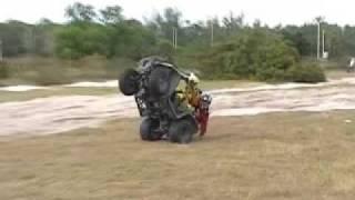 8. Doing wheelies on an Arctic Cat 250 FAILED