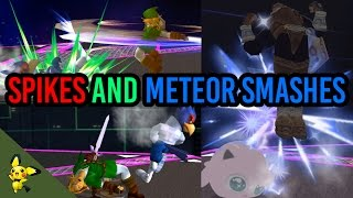 SSBM Tutorials- Everything about meteor smashes and spikes
